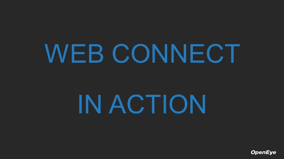 WEB CONNECT IN ACTION