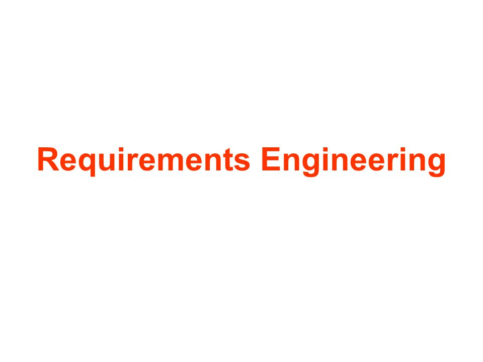 Topics requirements requirements errors requirements specification