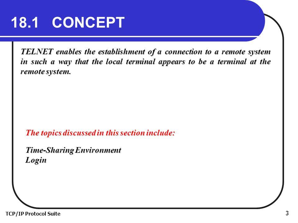 TCP/IP Protocol Suite 4 Figure 18.1 Local login
