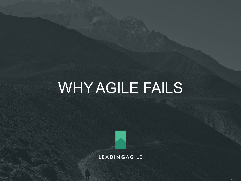 WHY AGILE FAILS ©2014 LeadingAgile LLC **ALL RIGHTS RESERVED** 15