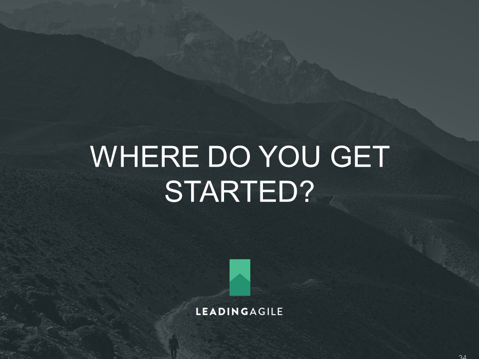 WHERE DO YOU GET STARTED ©2014 LeadingAgile LLC **ALL RIGHTS RESERVED** 34
