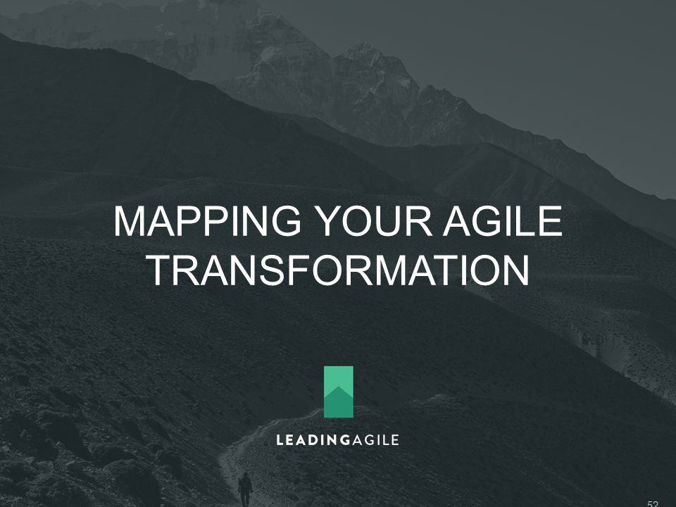 MAPPING YOUR AGILE TRANSFORMATION ©2014 LeadingAgile LLC **ALL RIGHTS RESERVED** 52