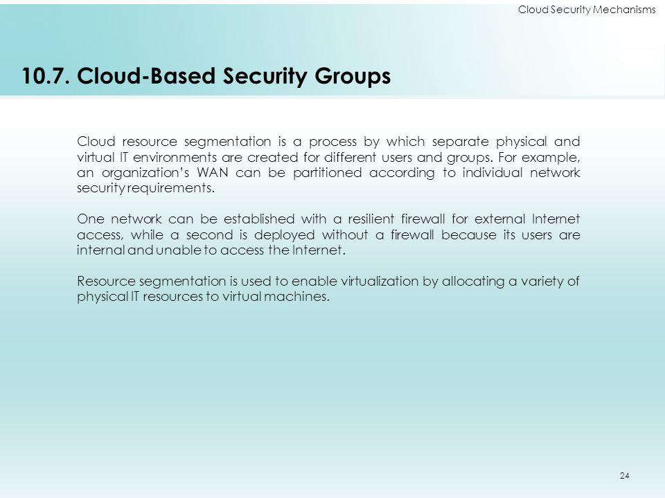 Cloud Security Mechanisms 10.7.