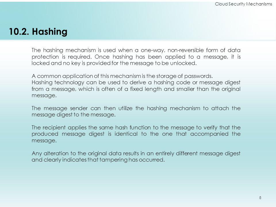 Cloud Security Mechanisms 10.2.