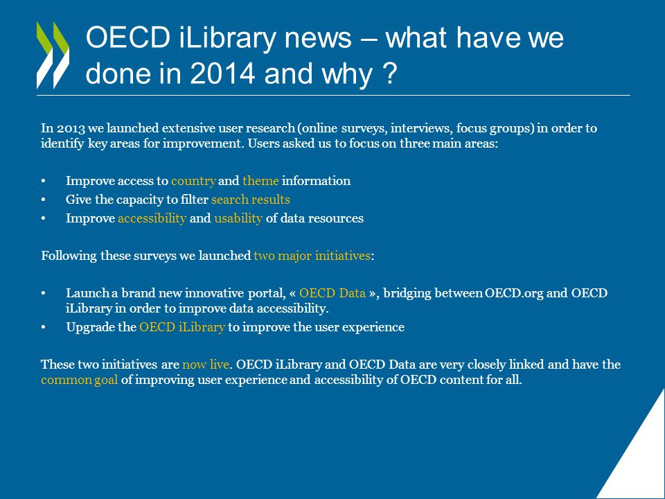 OECD iLibrary news – what have we done in 2014 and why .