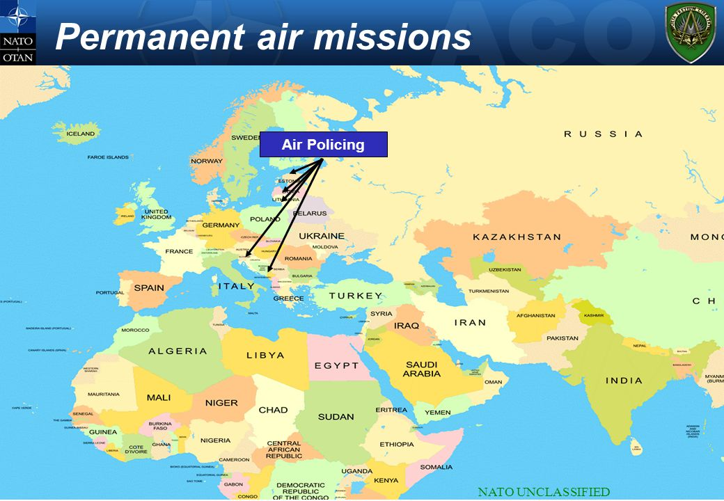 NATO UNCLASSIFIED Permanent air missions Air Policing