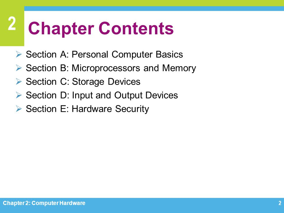 2 Portable Computers Chapter 2: Computer Hardware13