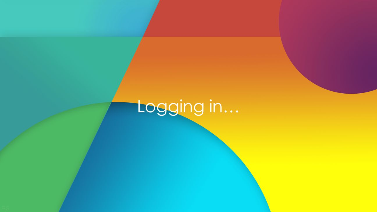 Logging in…