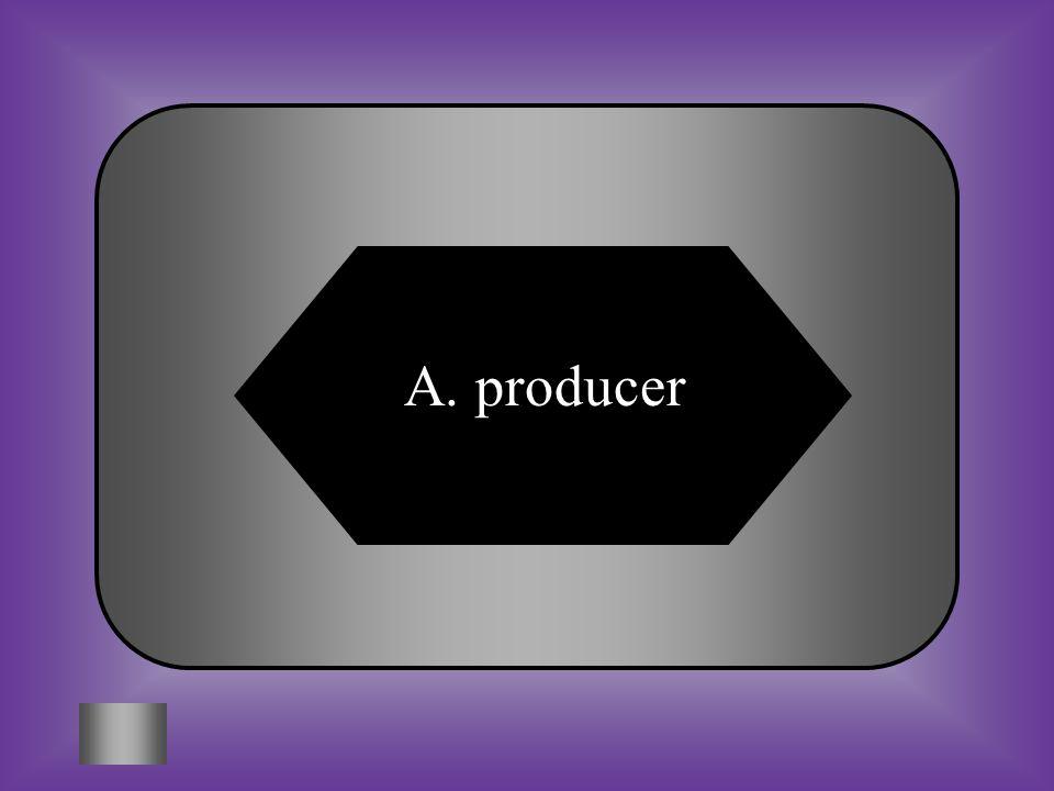 A:B: producercomsumer C:D: populationpredator #6 Organism that produce their own food.
