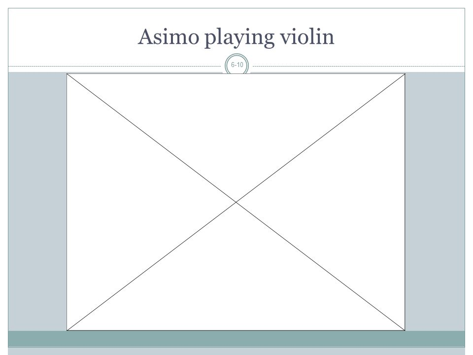 Asimo playing violin 6-10