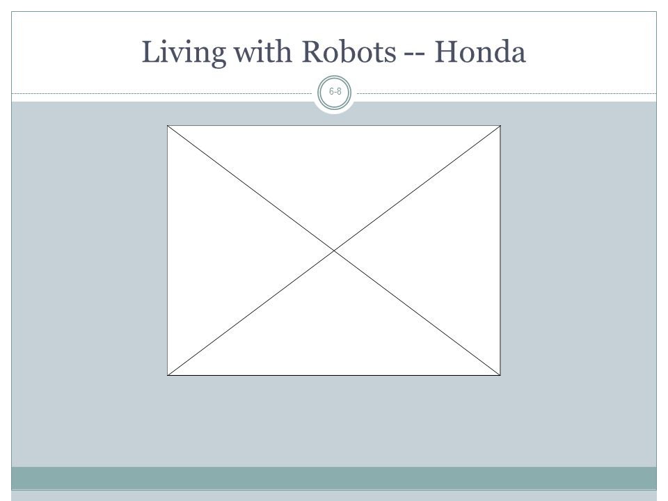 Living with Robots -- Honda 6-8