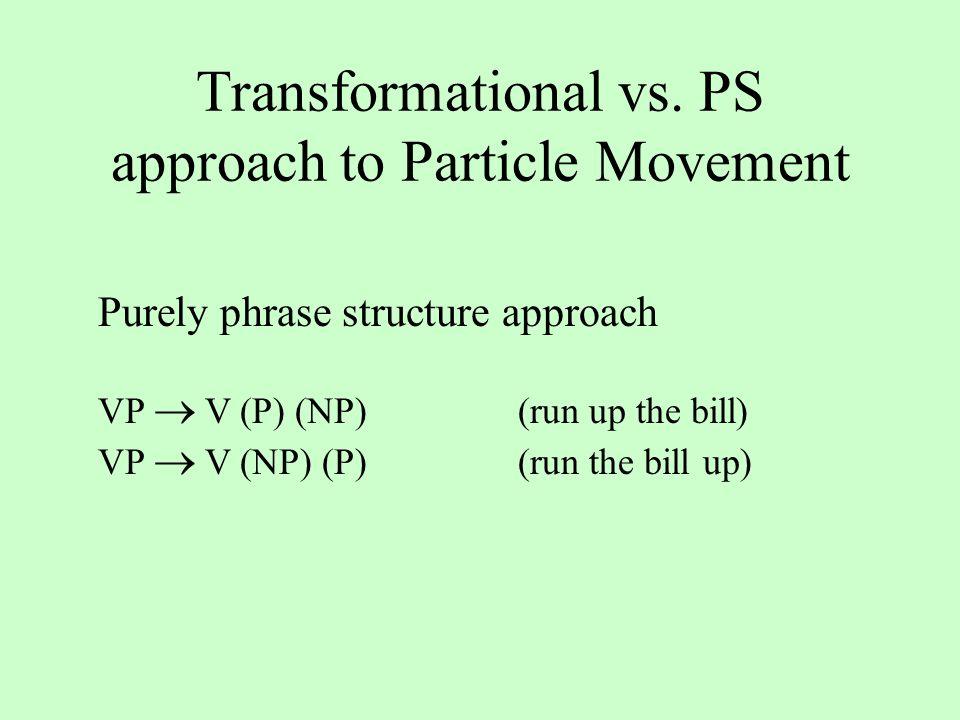 Transformational vs.
