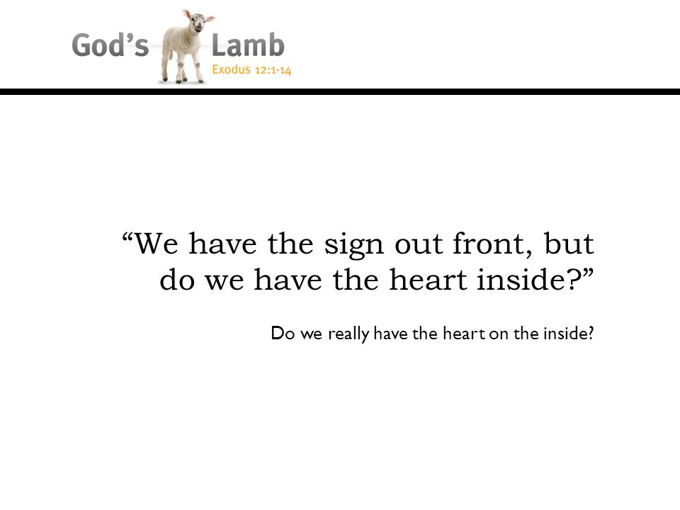 Do we really have the heart on the inside