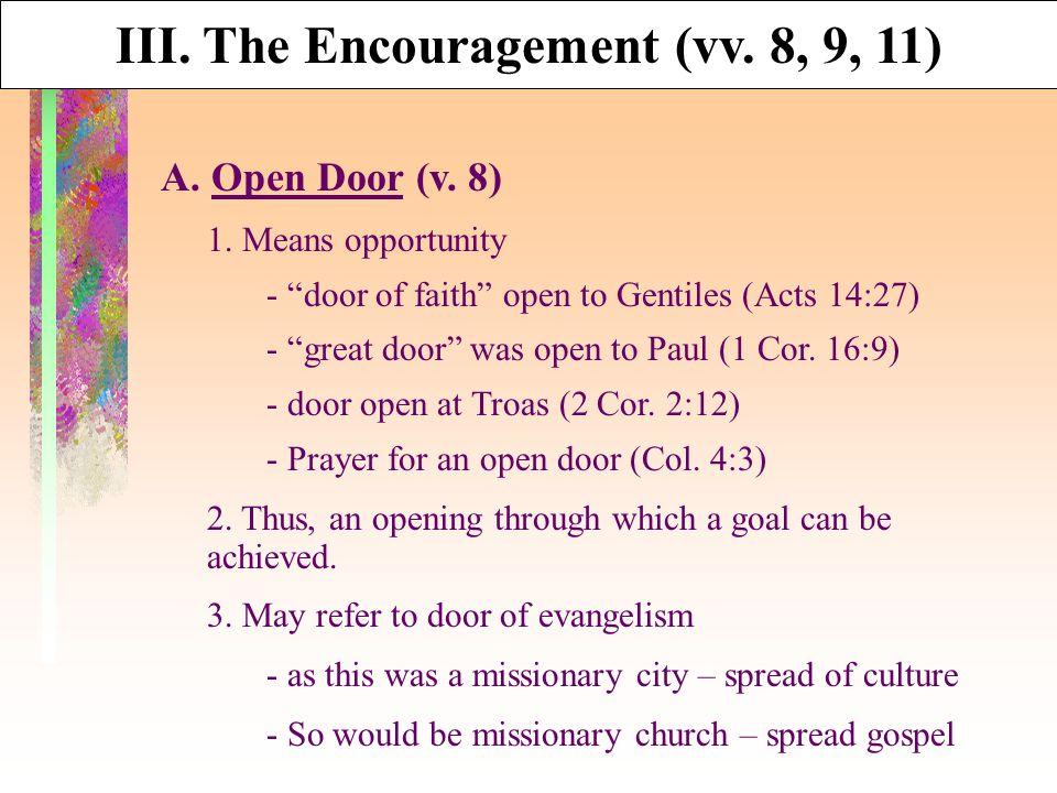 A. Open Door (v. 8) 1.