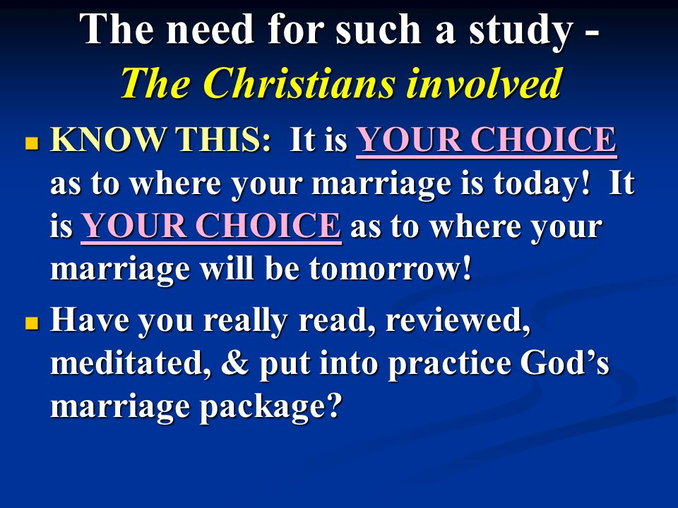 Use the Right Box Top - God's Blueprint for Marriage - Gen.