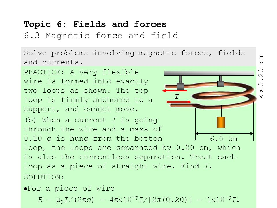 PRACTICE: A very flexible wire is formed into exactly two loops as shown.