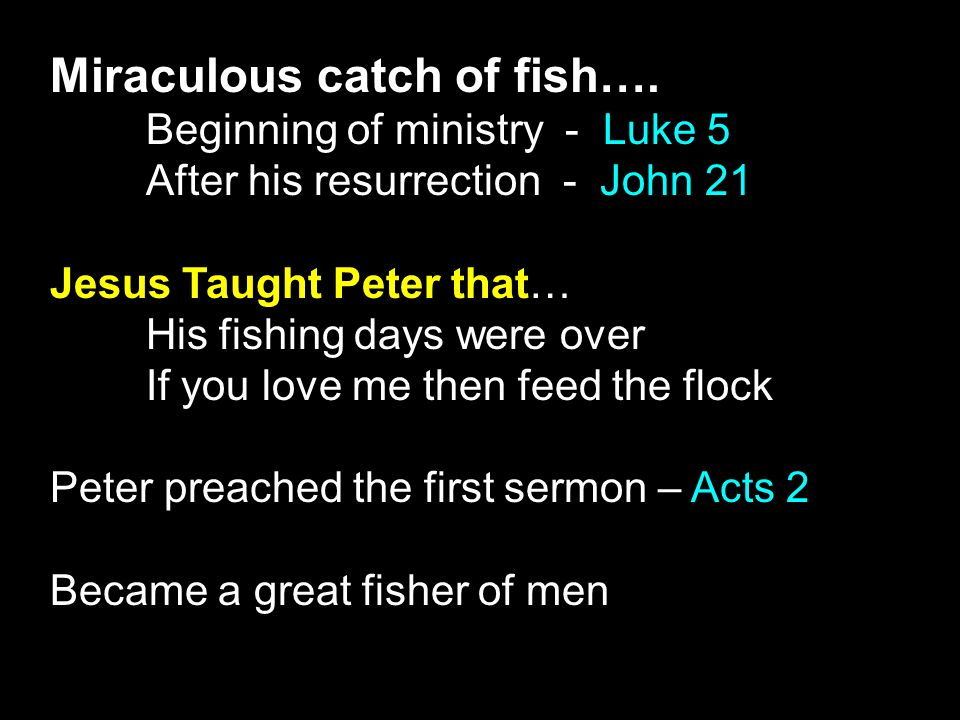 Miraculous catch of fish….
