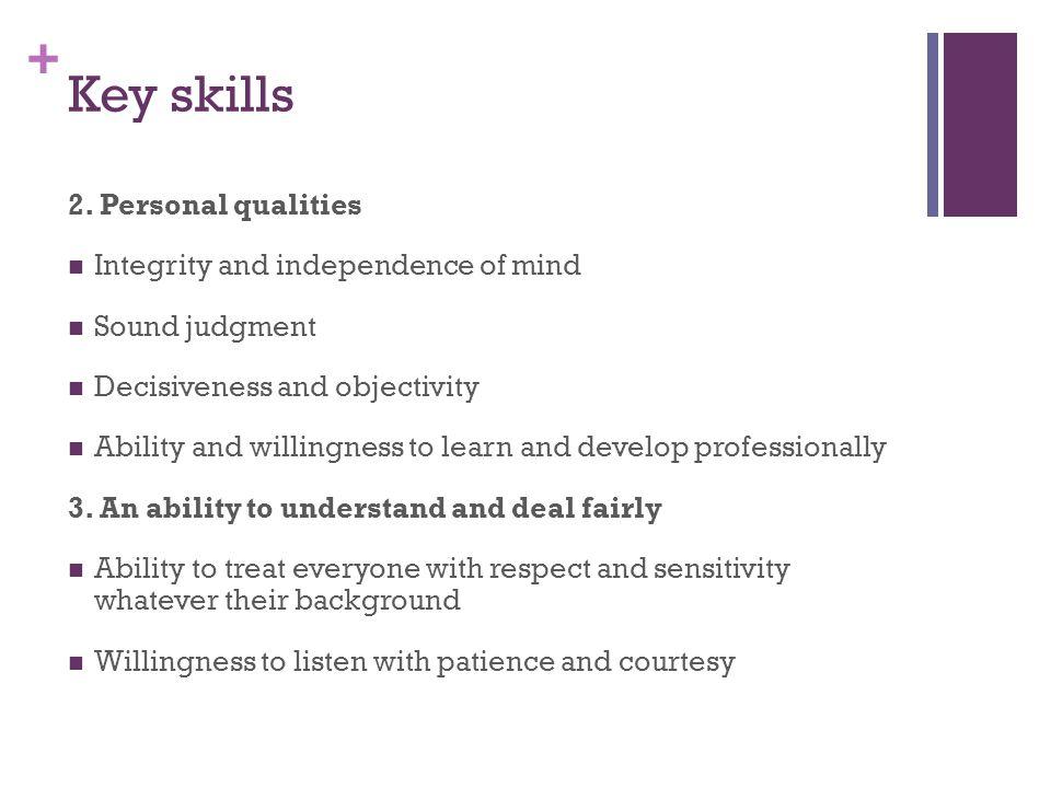 + Key skills 2.