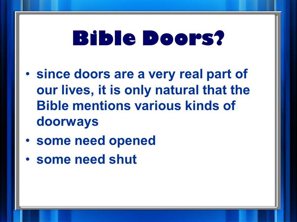 Bible Doors.