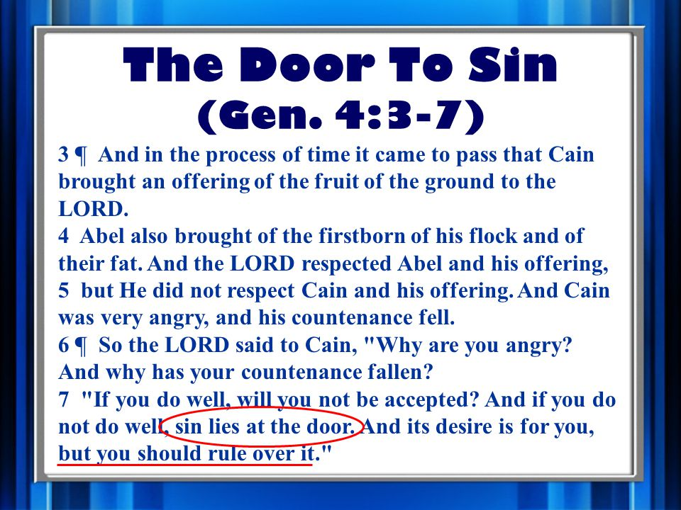 The Door To Sin (Gen.