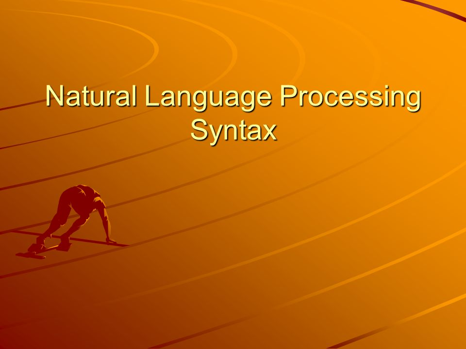 Natural Language Processing Syntax