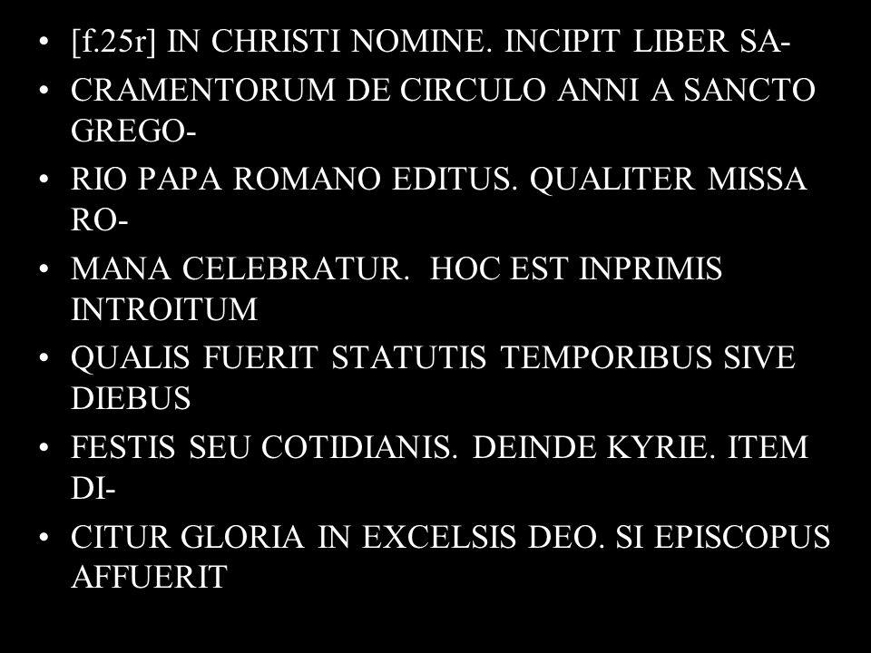 [f.25r] IN CHRISTI NOMINE.