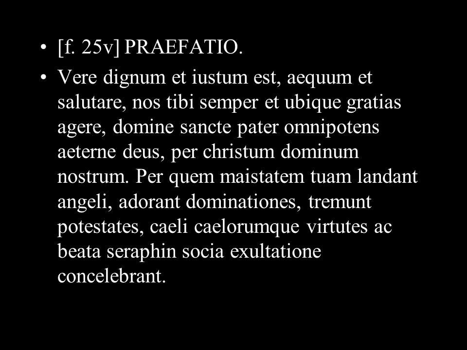 [f. 25v] PRAEFATIO.