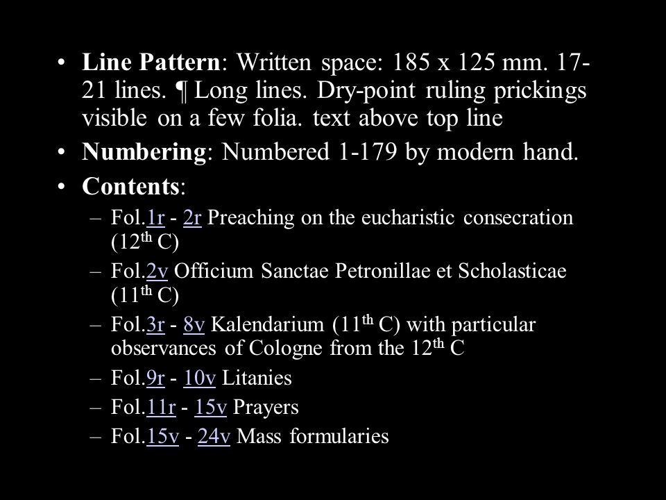 Line Pattern: Written space: 185 x 125 mm lines.