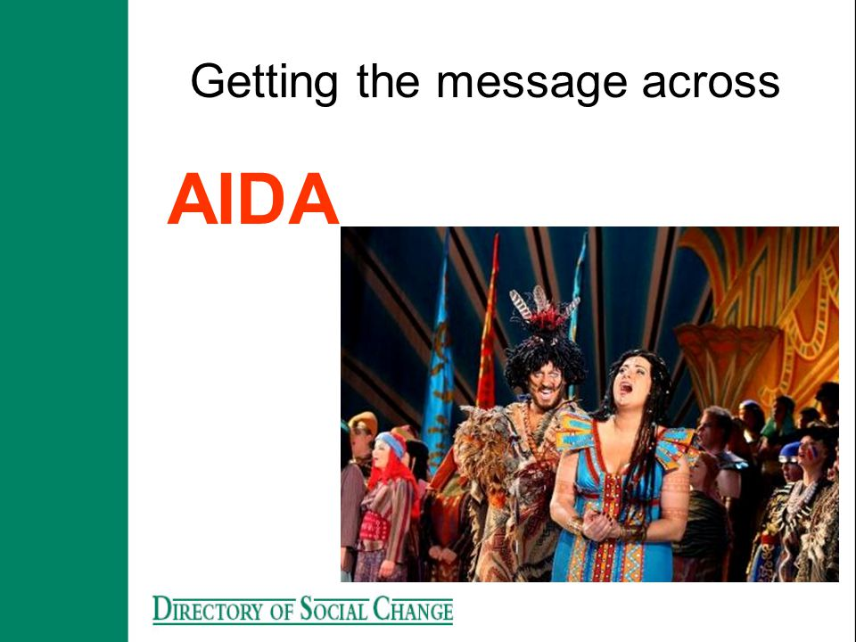 Getting the message across AIDA