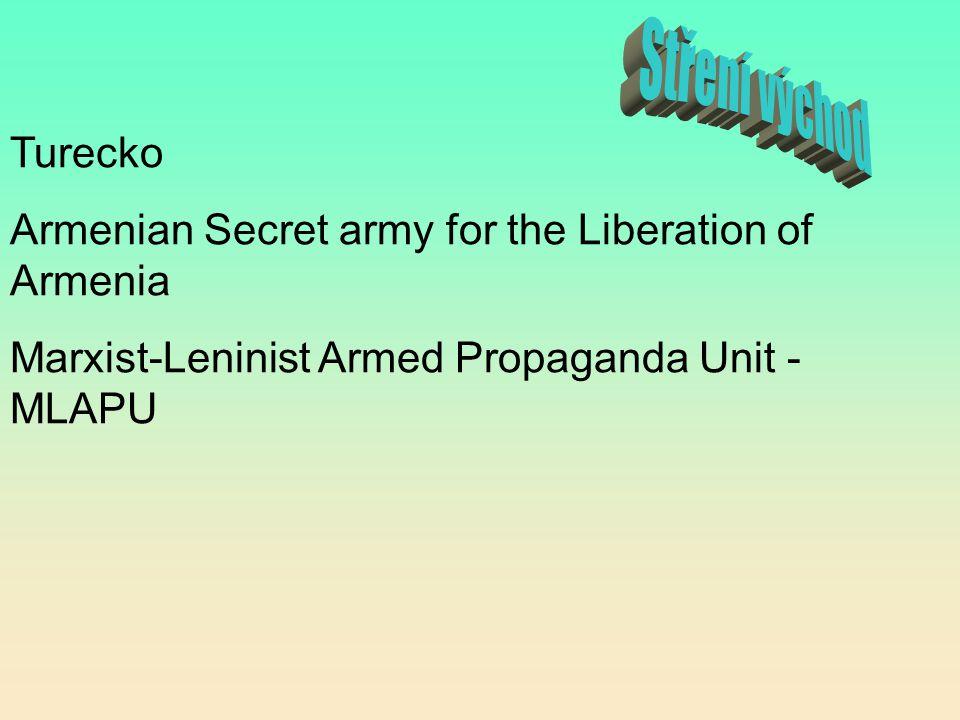 Turecko Armenian Secret army for the Liberation of Armenia Marxist-Leninist Armed Propaganda Unit - MLAPU