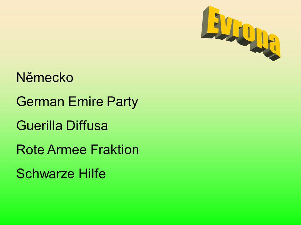 Německo German Emire Party Guerilla Diffusa Rote Armee Fraktion Schwarze Hilfe
