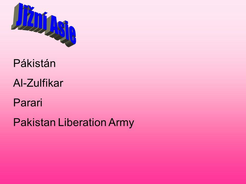 Pákistán Al-Zulfikar Parari Pakistan Liberation Army