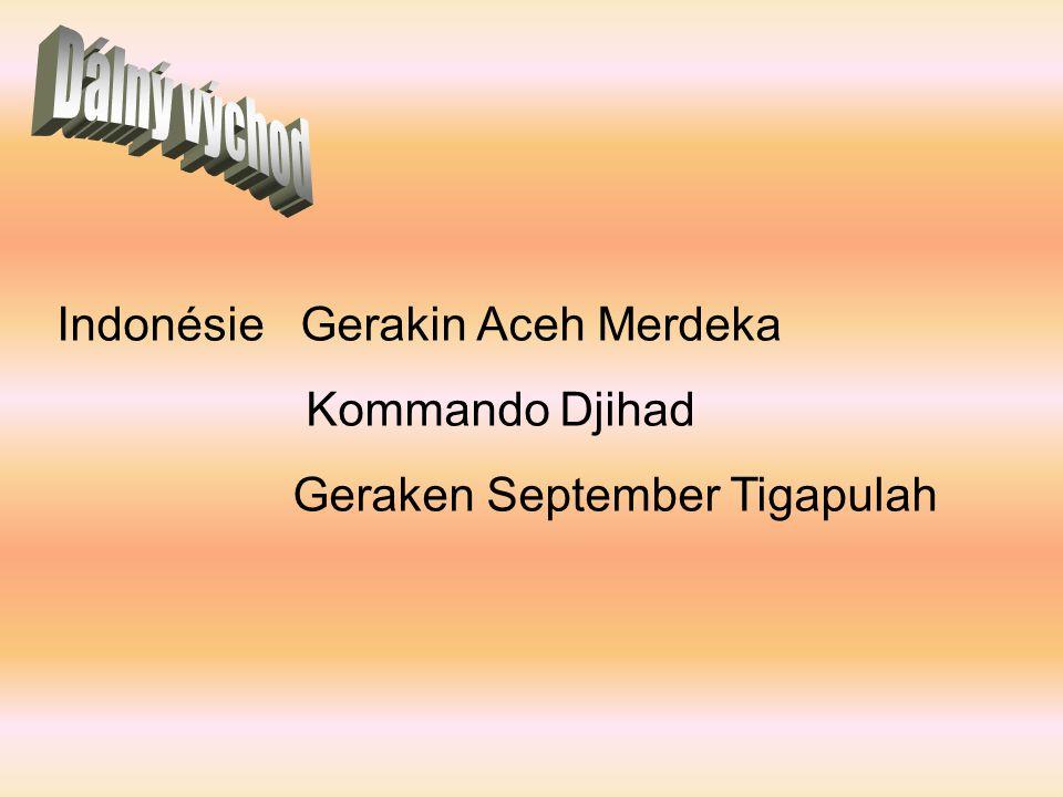 Indonésie Gerakin Aceh Merdeka Kommando Djihad Geraken September Tigapulah