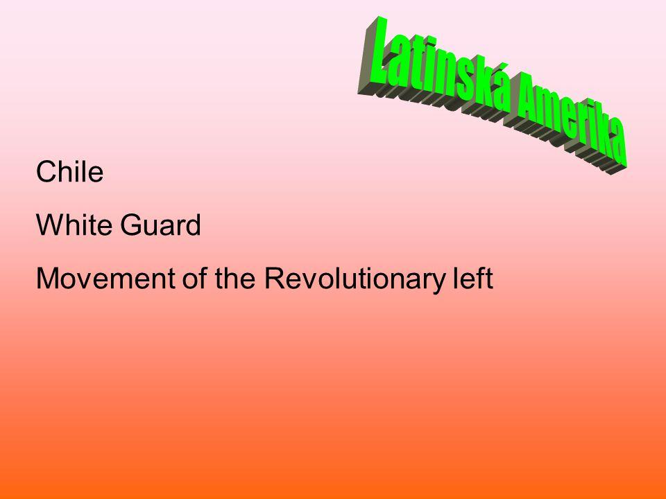 Chile White Guard Movement of the Revolutionary left