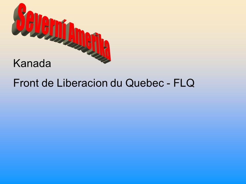 Kanada Front de Liberacion du Quebec - FLQ
