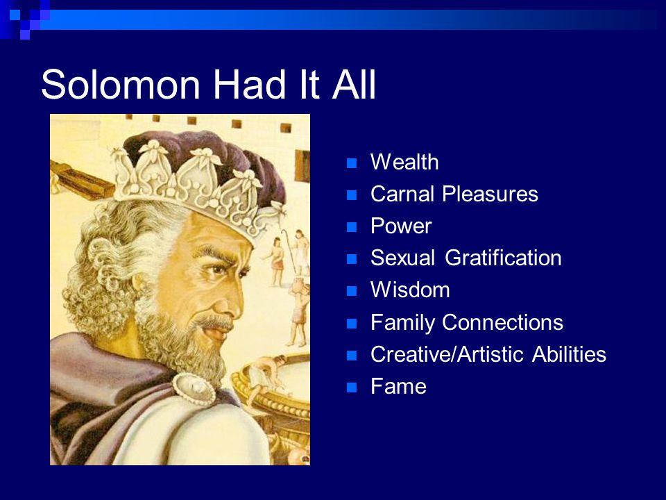Job vs. Solomon