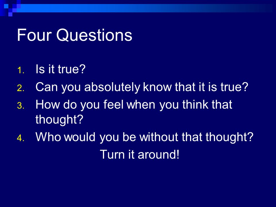 Worksheets Byron Katie 4 Questions Worksheet moving on to perfection a practical study in the deceptive mind byron katie severely depressed her 30s discovered series of 32 four questions
