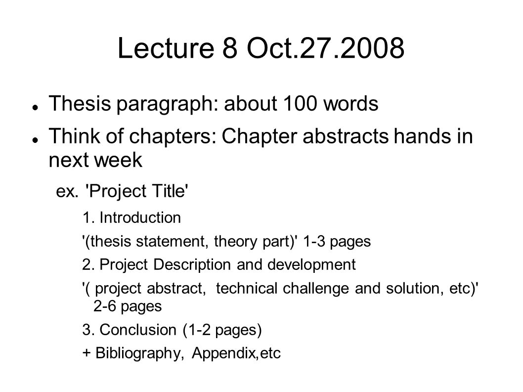 introduction to chapter 1 in thesis