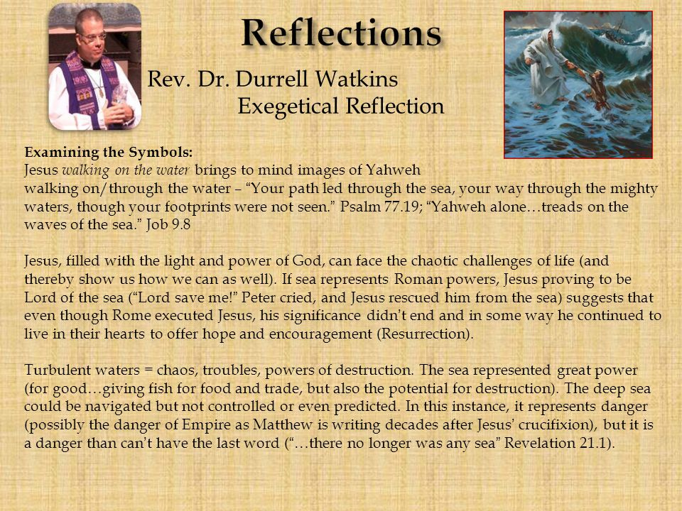 Reflections Rev. Dr.