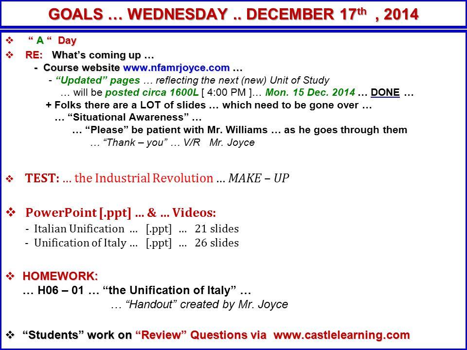 This Fri.19 Dec. 2014 Heads up Folks … This Fri.