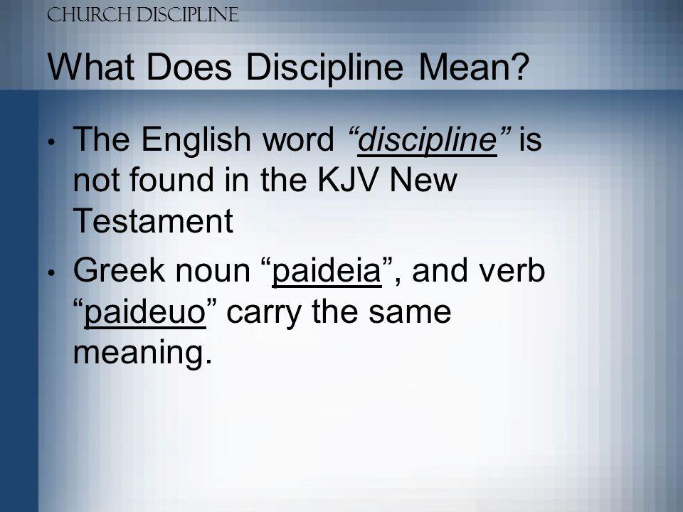 Church Discipline What Does Discipline Mean.Thayer: –3809  (paideia) : 1.