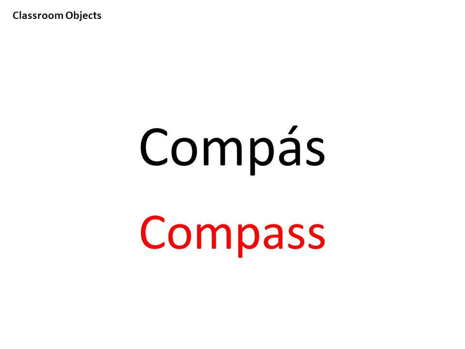 Classroom Objects Compás Compass