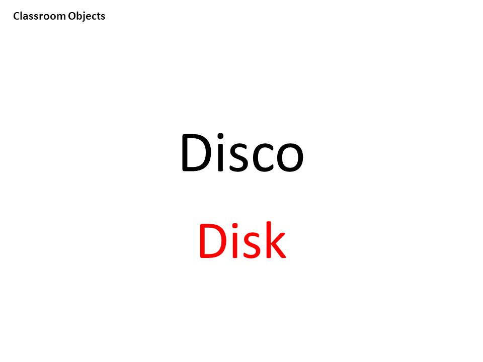 Classroom Objects Disco Disk