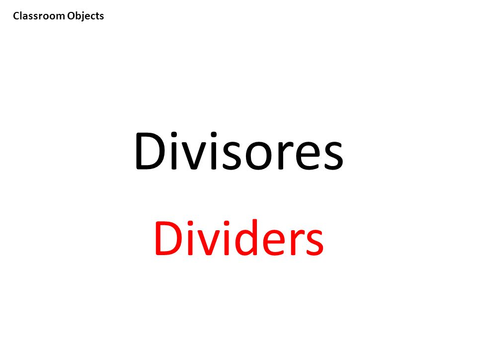 Classroom Objects Divisores Dividers
