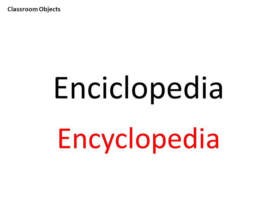 Classroom Objects Enciclopedia Encyclopedia