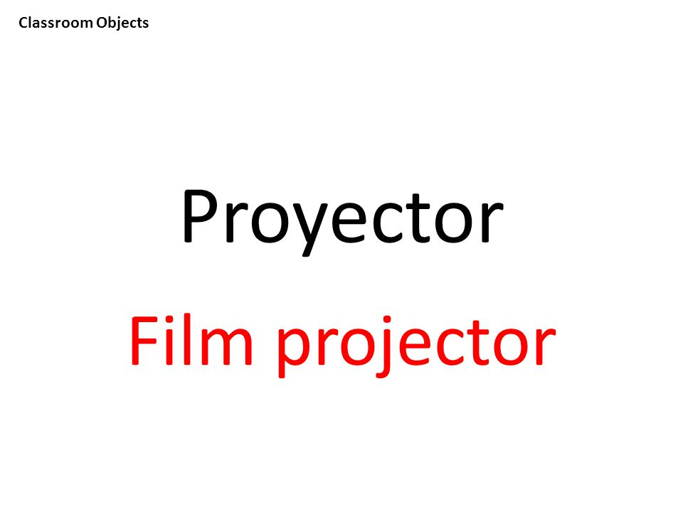Classroom Objects Proyector Film projector
