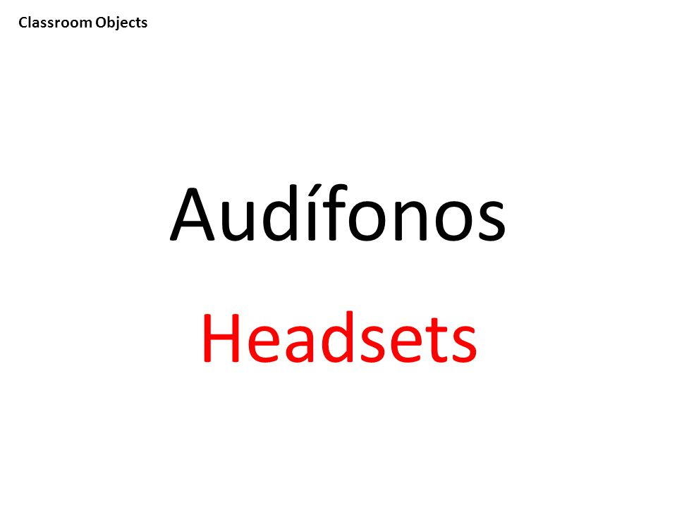 Classroom Objects Audífonos Headsets
