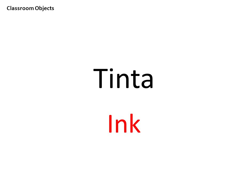 Classroom Objects Tinta Ink