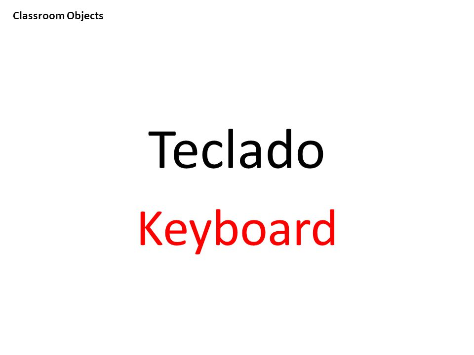 Classroom Objects Teclado Keyboard