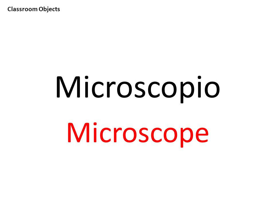 Classroom Objects Microscopio Microscope